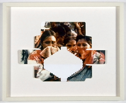 Colour laser print on card. Mounted on mat board and framed, 42.5 x 52.7 x 3.8 cm, 2001
