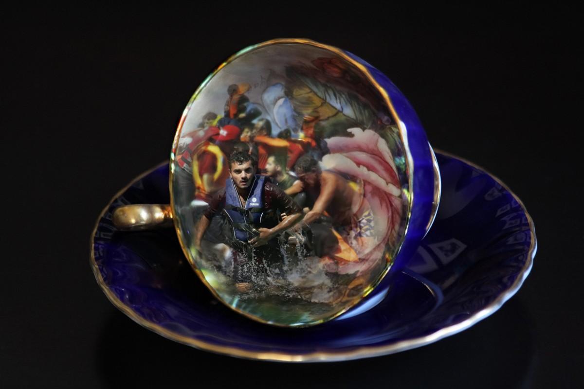 Blue Tea Cup/Lesbos